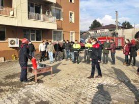 Bingöl'de polise yangın eğitimi
