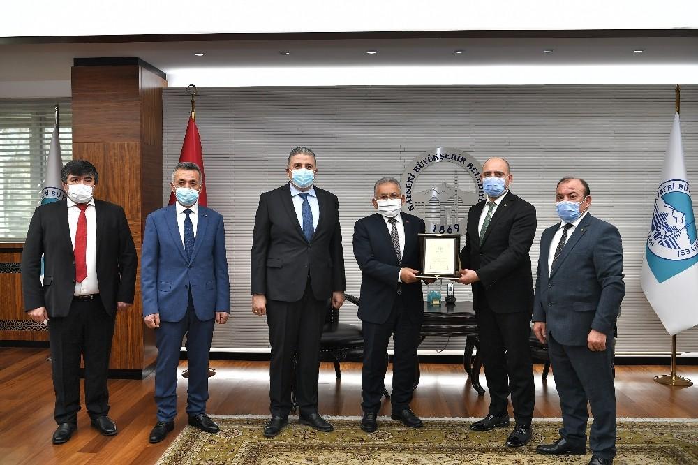 Borsa yönetiminden Büyükkılıç'a teşekkür ziyareti