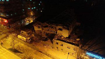 Bursa'da 6 katlı Eski Emniyet Müdürlüğü binası böyle yıkıldı