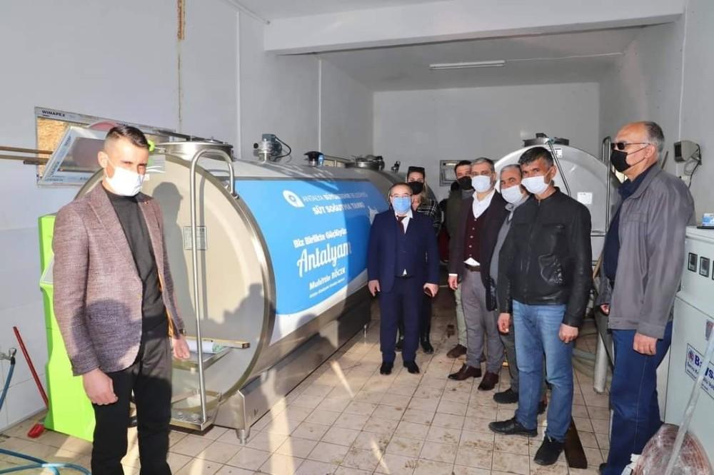 Büyükşehir'den Elmalı Yuva'ya 4 tonluk süt tankı