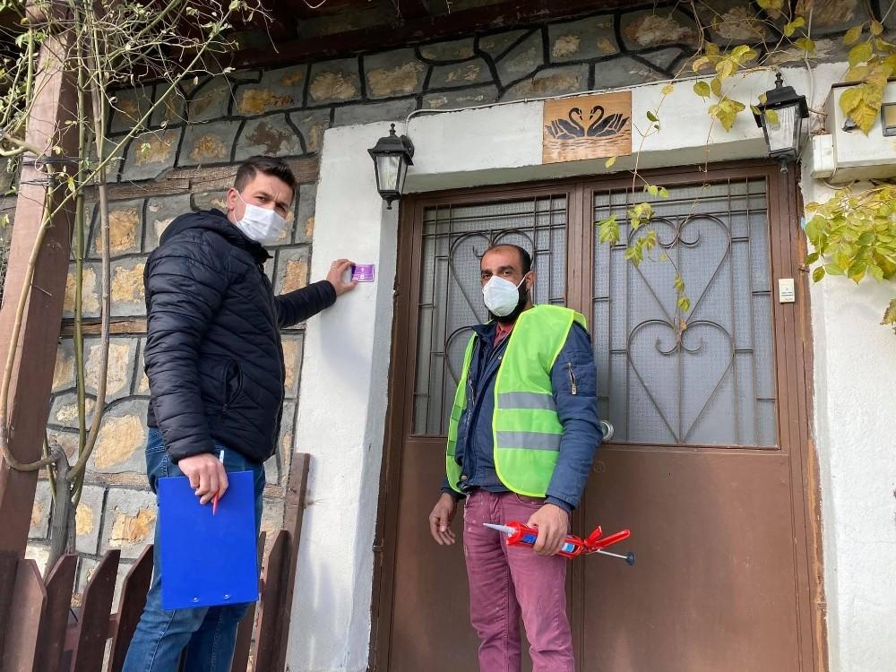 Çanakkale Çan ilçesinde kapılar numaralandırılıyor