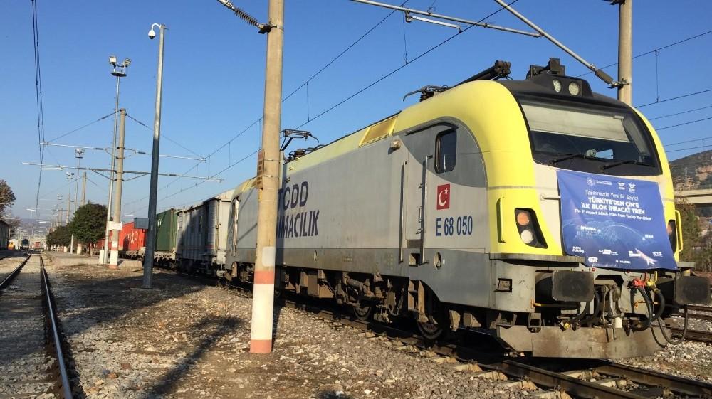 Çin'e giden ilk ihracat treni Bilecik'te durdu