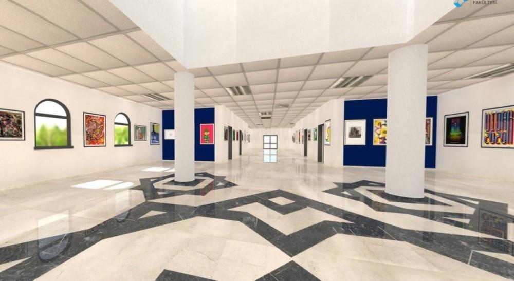 """DPÜ GSF'nin """"Salgın Döneminde Sanat Eğitimi' Sergisi açıldı"""