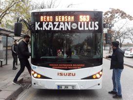 Elmadağ ve Kahramankazan ilçelerinde de Ankarakart kullanılmaya başlıyor
