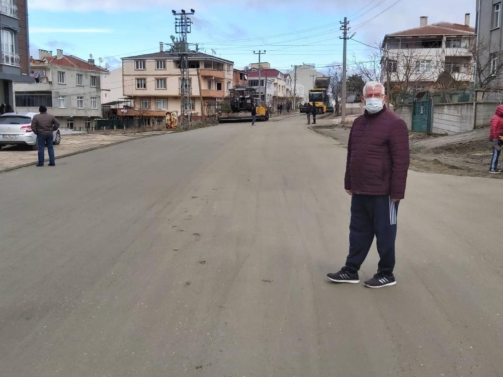 Ergene Belediyesi yol çalışmalarını kesintisiz sürdürüyor