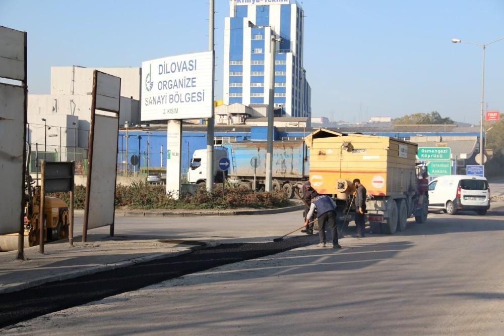 Gebze ve Dilovası yolları asfaltlandı
