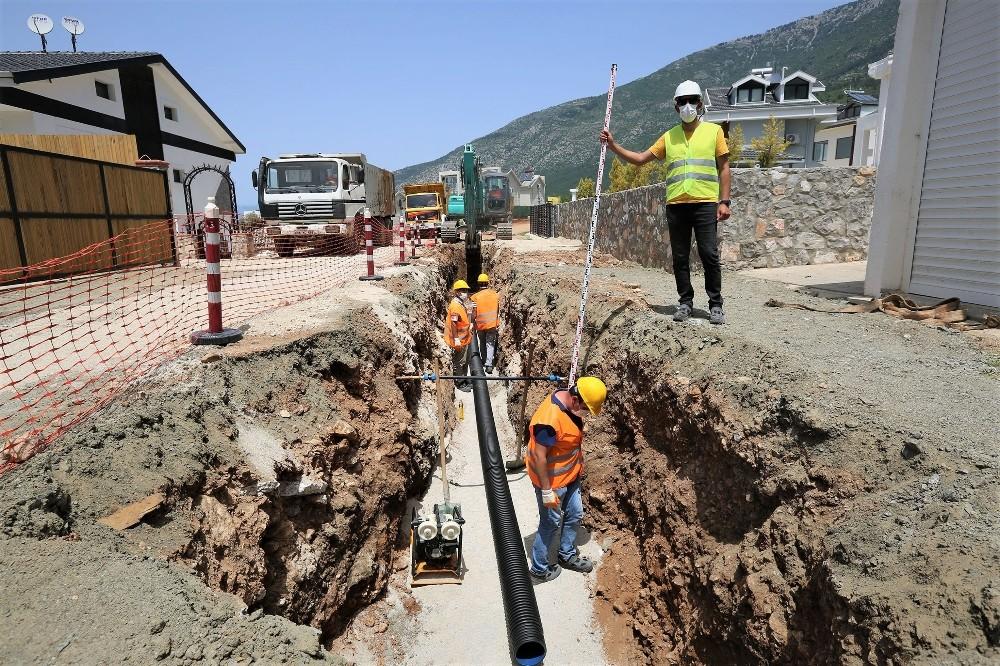 Hisarönü-Ovacık kanalizasyon hattının yüzde 41'i tamamlandı