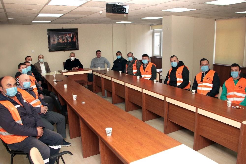İşçilerden Başkan Bozkurt'a teşekkür