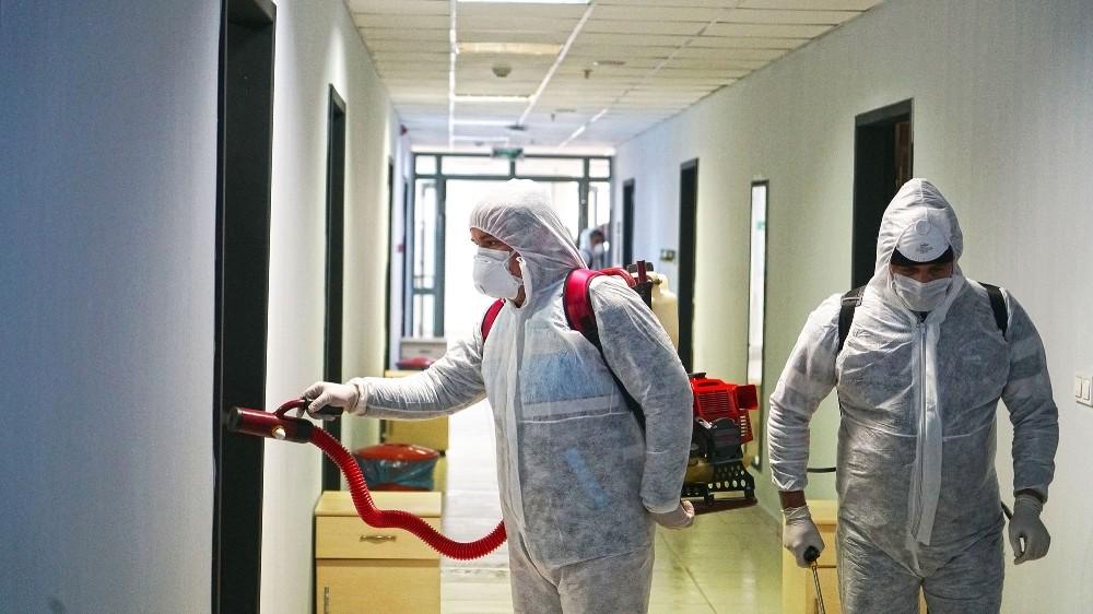 Kahramanmaraş'ta yurtlar dezenfekte ediliyor