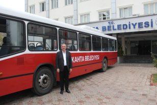 Kahta Belediyesi araç filosuna yeni otobüs