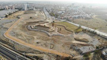 Karaman Şehir Parkı'nda çalışmalar tün hızıyla devam ediyor