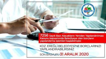 Kdz. Ereğli Belediyesi borçları yapılandırıyor