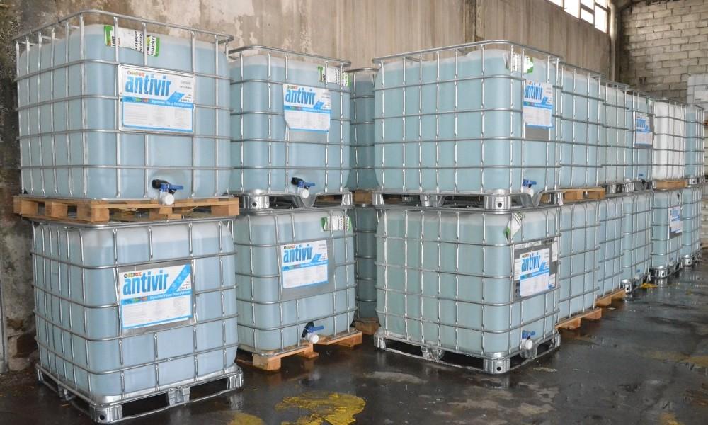 Kırıkkale Belediyesine 30 ton dezenfektan hibe edildi