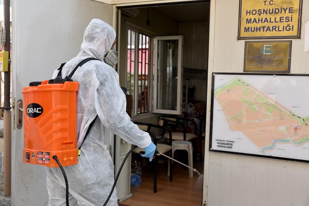 Eskişehir Tepebaşı'nda Koronavirüs Mücadelesi Sürüyor