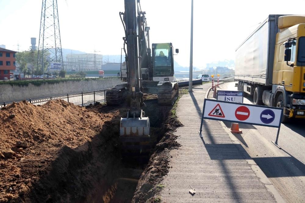Liman Caddesi'ndeki altyapı çalışması tamamlandı