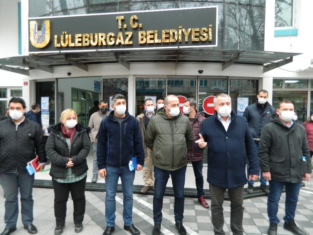 Lüleburgaz Belediyesi işçileri eylem kararı aldı