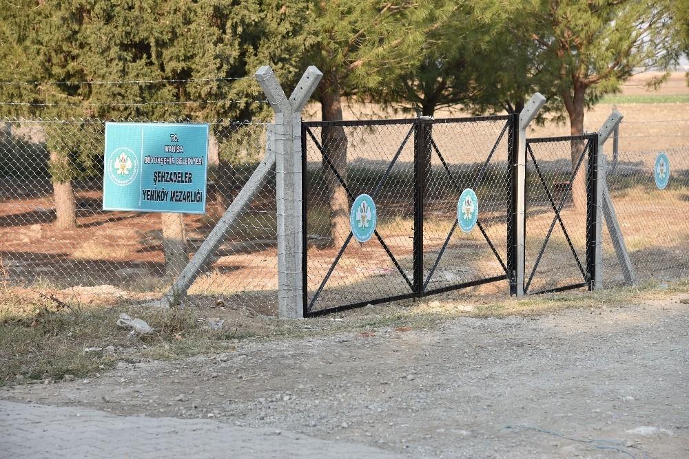 Manisa'da mezarlık güvenliğine hassas çalışma