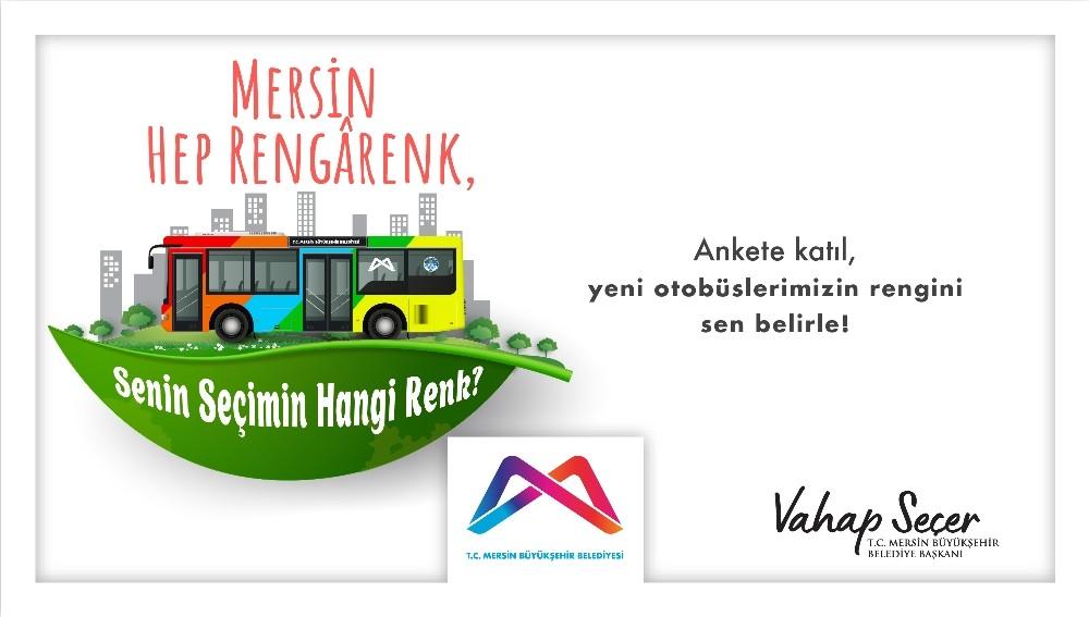 Mersin'de yeni otobüslerin rengi anketle belirlenecek