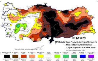 Meteorolojinin Kuraklık Haritası: Orta Karadeniz Şiddetli Kuraklık Riskinde
