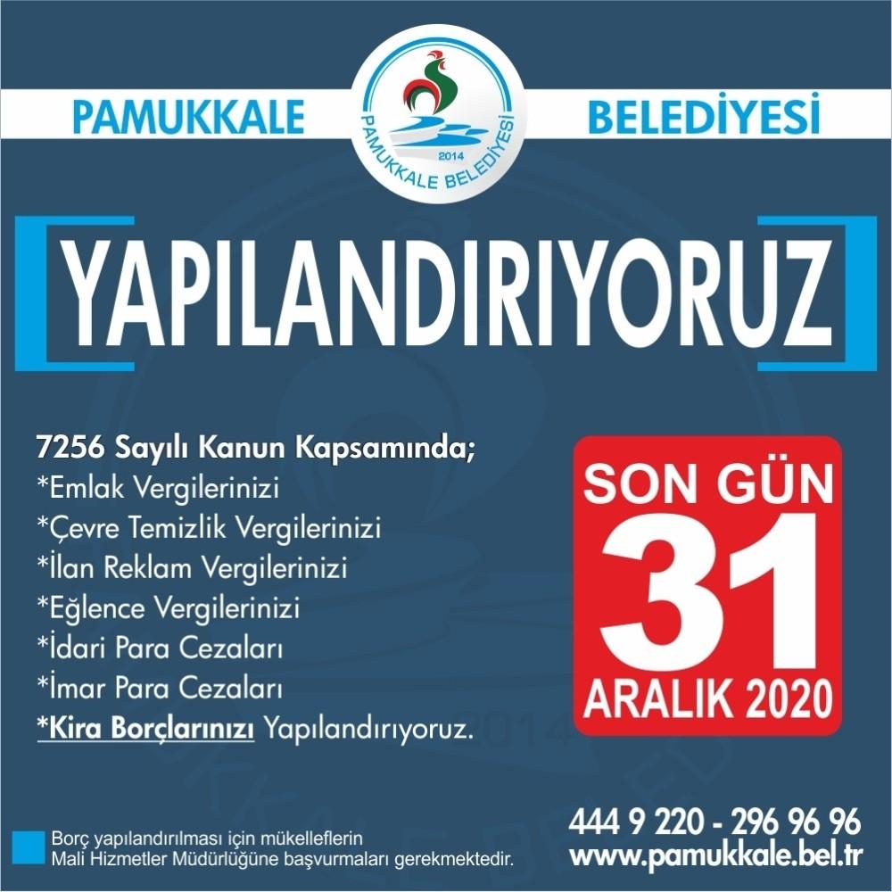 Pamukkale Belediyesinden Çeşitli Borcu Olan Vatandaşlara Yapılandırma İmkanı