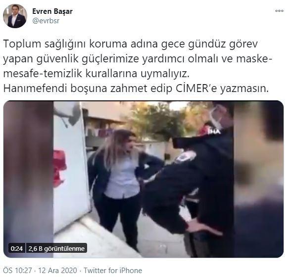 """Polisleri tehdit eden kadına CİMER'den cevap: """"Boşuna zahmet edip yazma"""""""