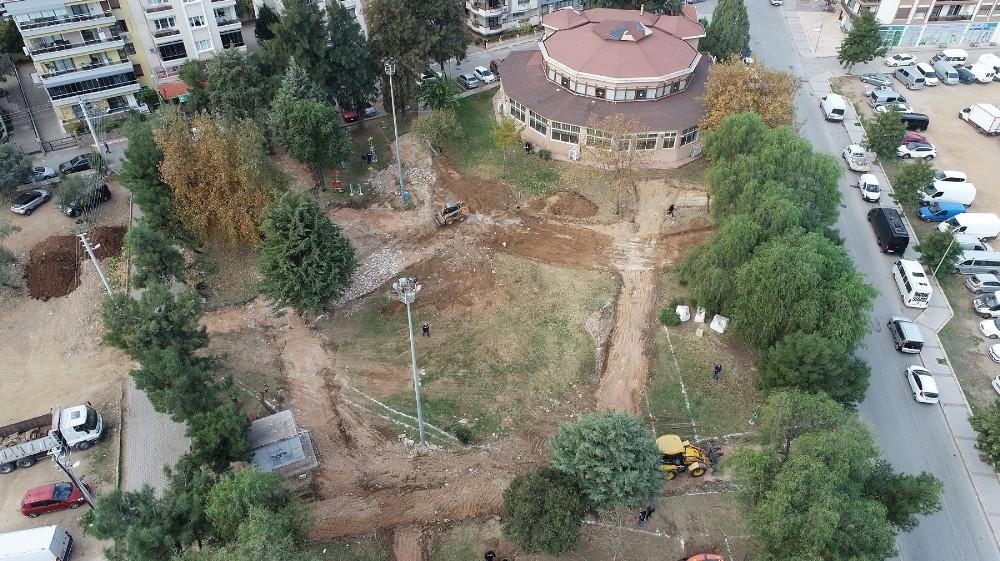 Rafet Şenbaydur Parkı yenileniyor
