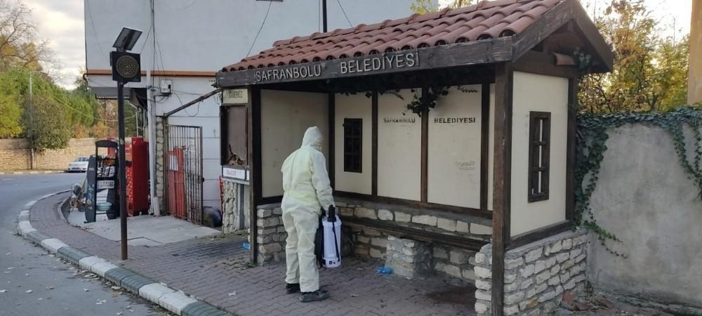 Safranbolu Belediyesi kentin dört bir yanında dezenfekte çalışması başlattı