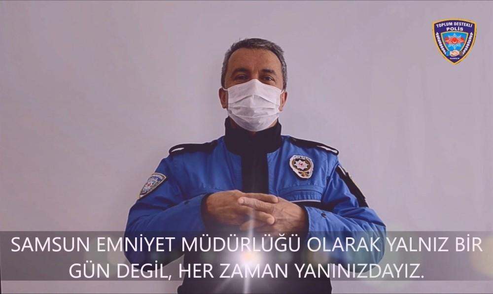 Samsun polisinden engellilere 'her zaman yanınızdayız' mesajı