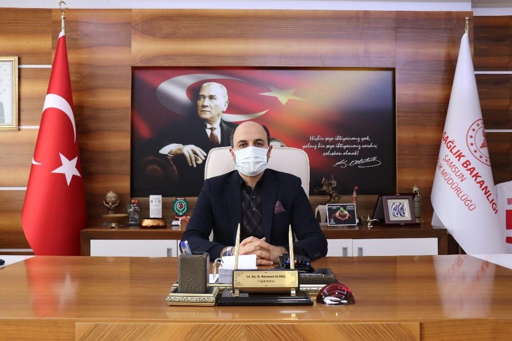 """Samsun Sağlık Müdürü Oruç'tan yılbaşı uyarısı: """"Aşı öncesi virüse son darbemizi vuralım"""""""