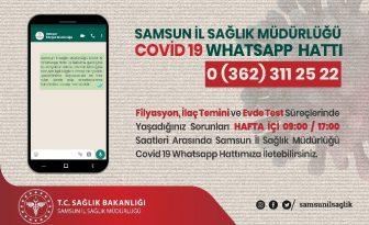 Samsun'da Kovid-19 Whatsapp Hattı