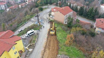 Sarıkorkmaz Mahallesi'nde yeni yol çalışmaları başladı