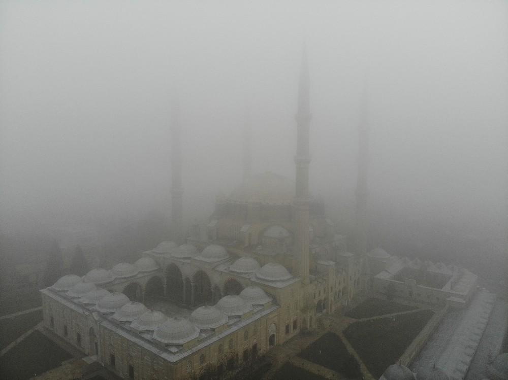 Selimiye'de sis görüntüleri mest etti