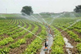 Tokat'ta 55 bin 550 dekar tarım arazisi modern sulama şebekesine kavuşacak