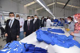 Karaman Valisi Saya ve Tekstil Fabrikasında İncelemede