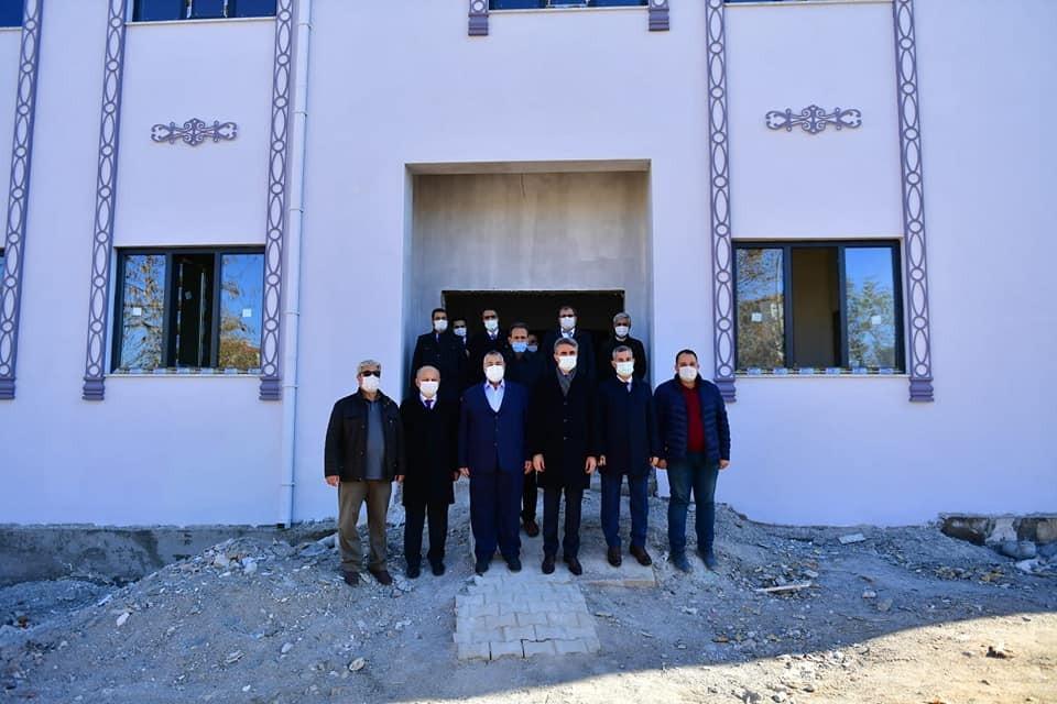 Yeşilyurt'taki Kur'an Kursu inşaat çalışmaları