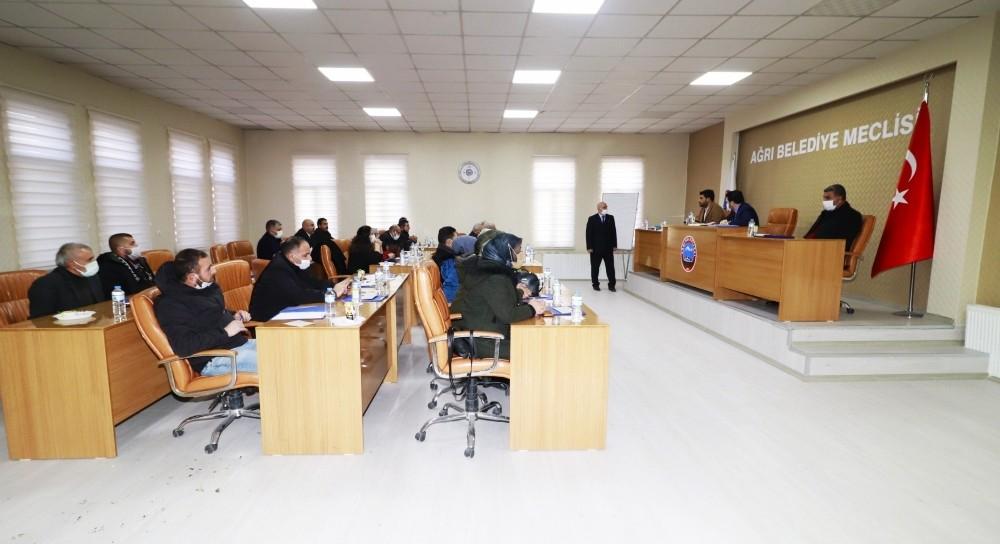 Ağrı 2021 Ocak Belediye Meclis Toplantısı Gerçekleştirildi