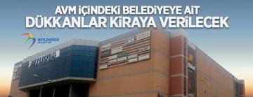 Beylikdüzü Belediyesi'ne ait Beylicium AVM''de 10 dükkan kiraya verilecek