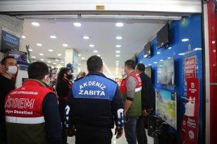 Akdeniz Belediyesi zabıta ekipleri yıl başında da denetimlerini sürdürdü