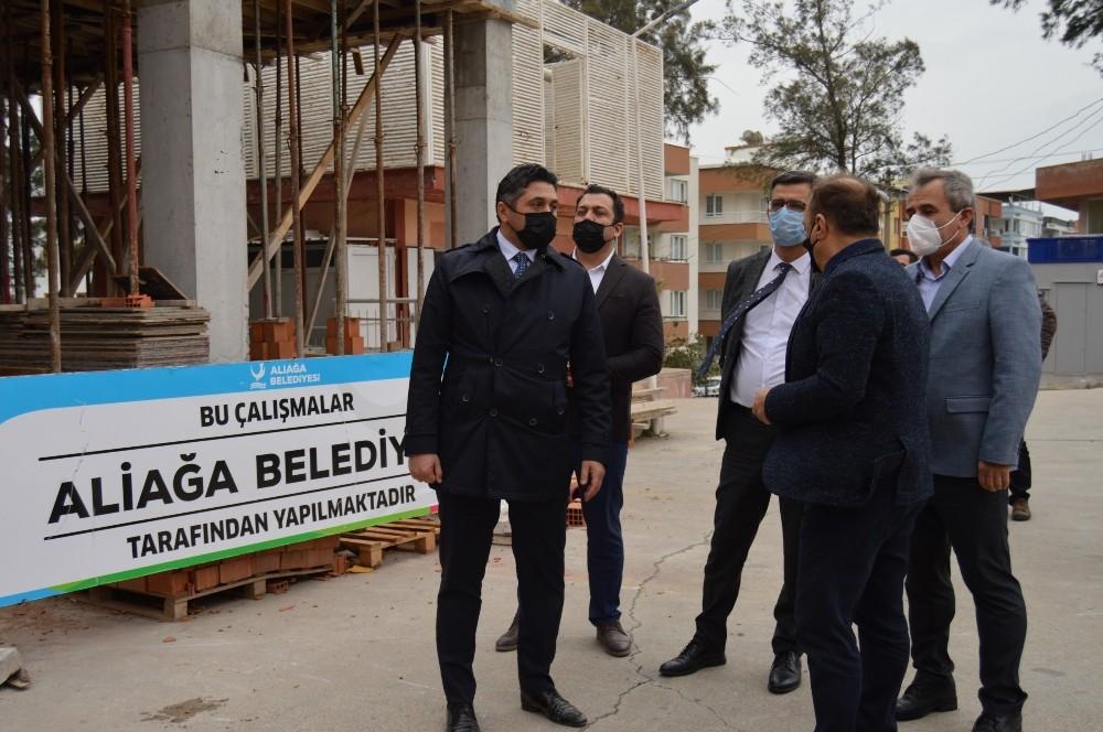 Aliağa Devlet Hastanesi Acil Servis Ek Binası hızla yükseliyor
