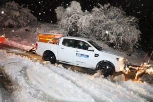 Başkan Palancıoğlu, karla mücadele için sahadaydı