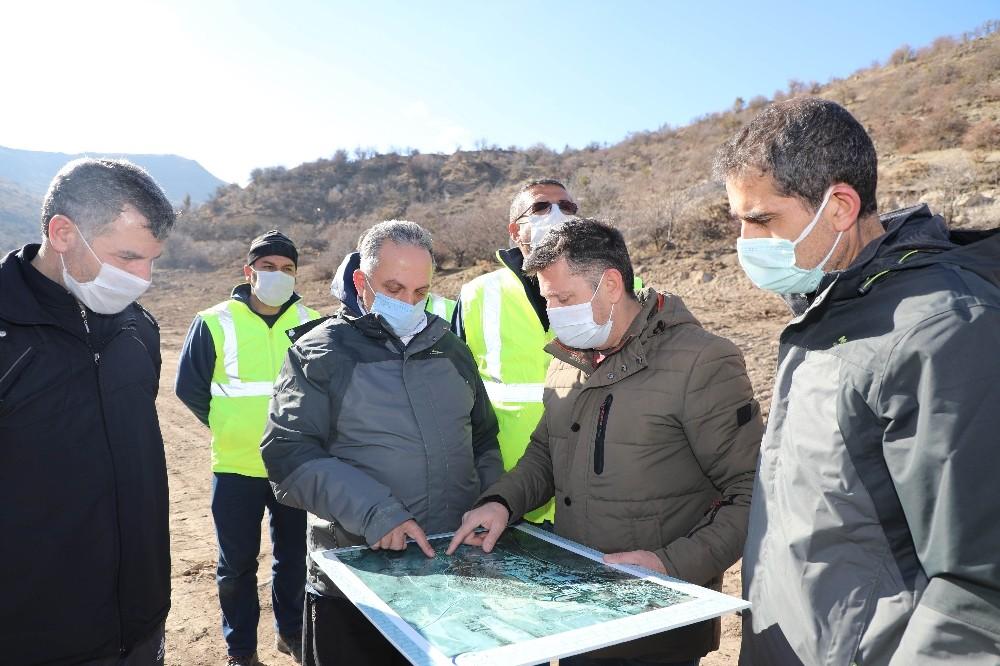 Başkan Yalçın'dan Zincidere Göleti Mesire Alanına inceleme