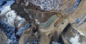 Erzurum Kar Kış Demeden Gölet Yapıyor