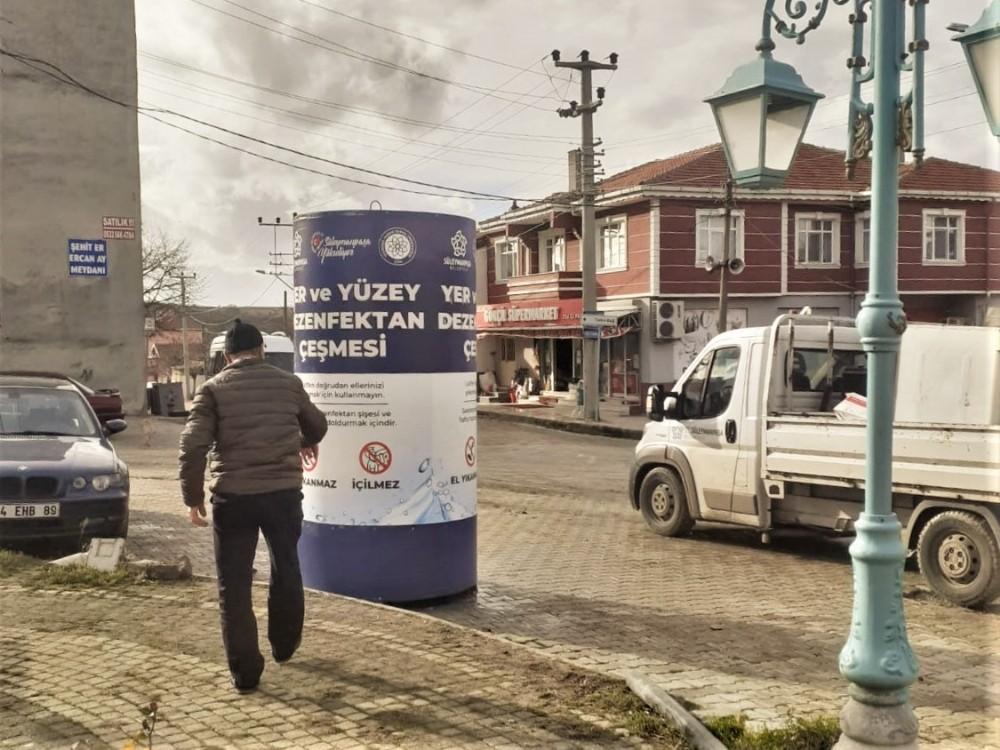 Dezenfektan çeşmeleri kırsal mahallelerde