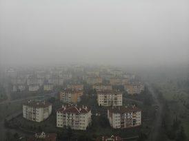 Düzce güne sisle uyandı