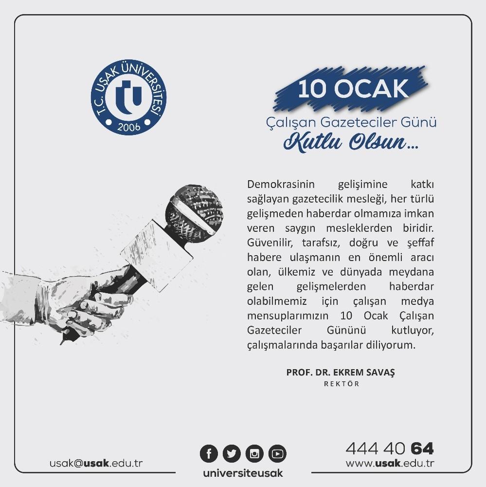 Ekrem Savaş, 10 Ocak Çalışan Gazeteciler Günü'nü kutladı