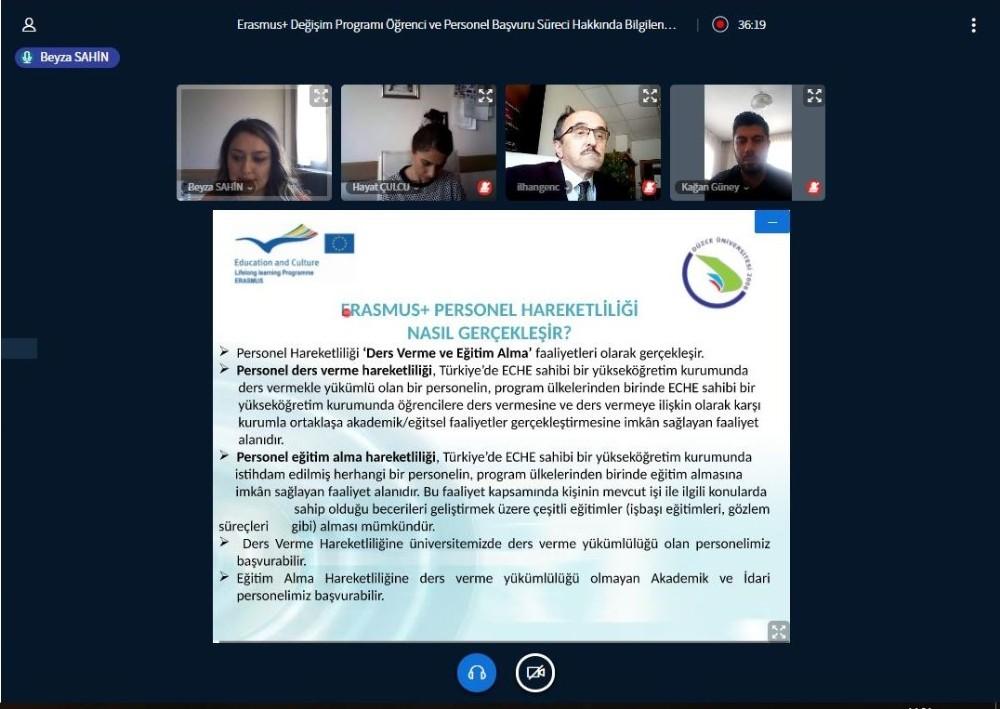 Erasmus değişim programı ve başvuru koşulları anlatıldı