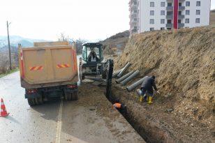 Erbaa'da Altyapı Hizmetleri Durmuyor