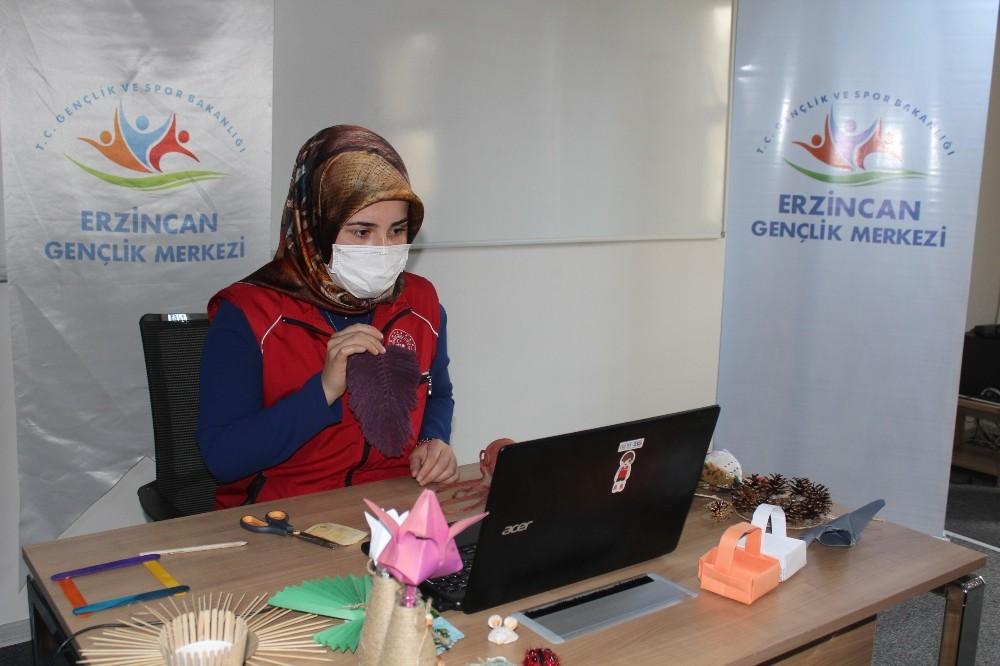 Erzincan'da gençler faaliyetlerini sanal ortama taşıdı