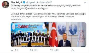 Gaziantep modeli Milli Eğitim Bakanı'nın takdirini topladı