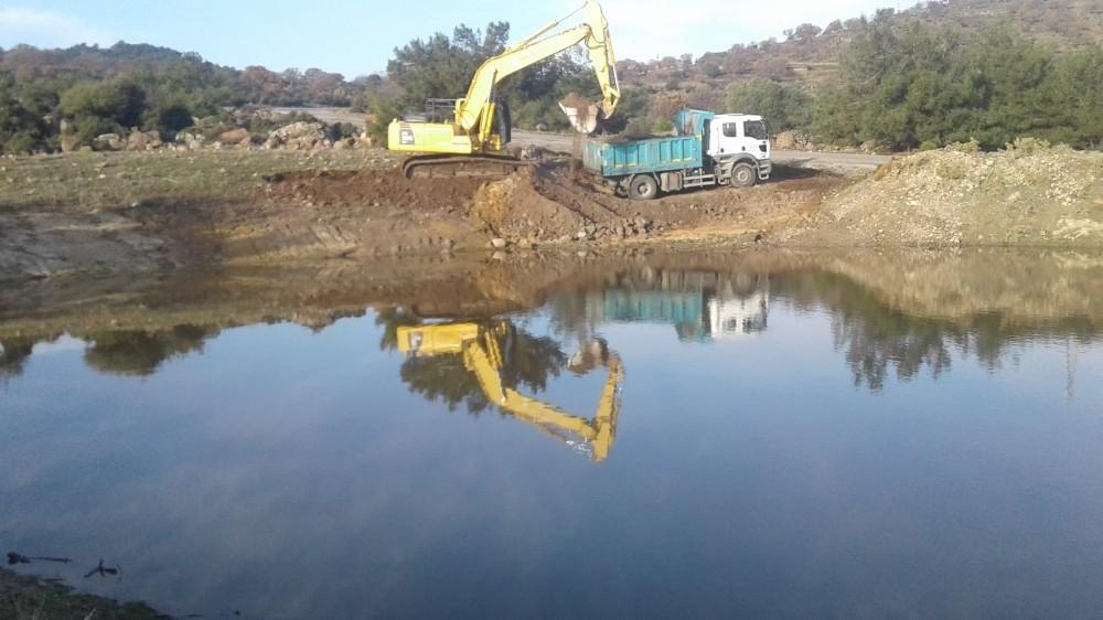 Gökbel'de HİS göletleri temizlendi